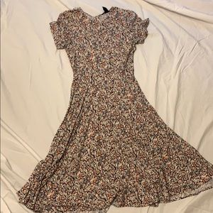 Pink and mauve flowery dress